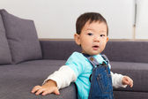 Asian baby boy at home — Stok fotoğraf