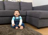 Asian baby boy smile at home — ストック写真