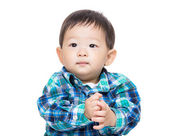 Asian baby boy clapping hands — Foto Stock