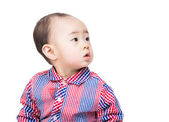 Asian baby boy looking  aside — Stock Photo