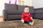 Chinese baby boy at home — Photo