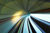 Se déplaçant rapidement former sentier en tunnel — Photo