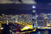 Kowloon peninsula in Hong Kong at night — Stock Photo