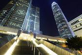 вид на город гонконг ночью — Стоковое фото