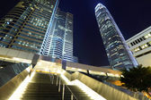 Vista de la ciudad de hong kong en la noche — Foto de Stock