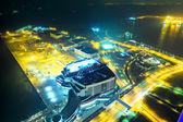 Cidade de osaka à noite — Fotografia Stock