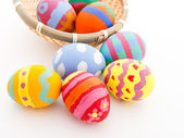 Easter eggs in basket — Foto de Stock