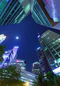 Modern building in Singapore from low angle — Stockfoto
