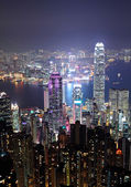Hong Kong city at night — Foto de Stock