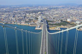 Akashi Kaikyo bridge viewing Kobe  — Stockfoto