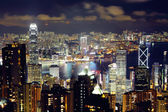 Hong Kong from the peak — Stockfoto