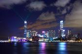 Hong kong skyline bei nacht — Stockfoto