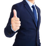 Businessman show thumb up  — Stock Photo