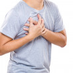 Man having heart attack — Stock Photo