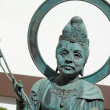Japanese temple bronze statue — Stock Photo #46006095
