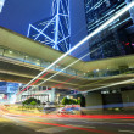 Traffic through downtown HongKong — Stock Photo #46006279