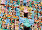 Statues in hindu temple at singapore  — Stock Photo