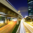 Cityscape with traffic trail — Stock Photo #46384295