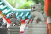 Stone Lion sculpture — Stock Photo