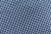 Blue checkered tablecloth — Stock Photo