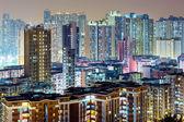 Hong Kong apartment at night  — Stock Photo