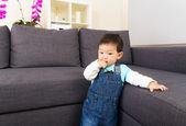 Baby boy in living room  — Foto Stock