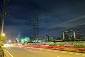 Industrial complex at night — Stock Photo
