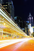 Car light trail in Hong Kong — Stock Photo