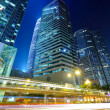 Light trails in Hong Kong at night — Stock Photo