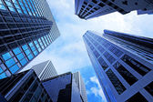 Modern office building in low angle view — Stock Photo