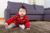 Little baby girl at home — Stock Photo