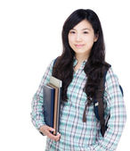 Asia female university student — Stock Photo