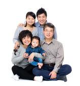 Happy asian three generation family — Stock Photo
