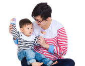 Mother play with her son — Stock Photo