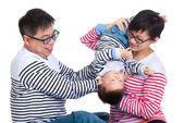 Parent play with baby son — Stockfoto