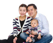 Happy young family — Stock Photo