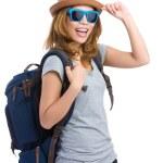 Tourisme femme heureuse — Photo #46853563