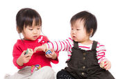 Little sister play together — Stock Photo