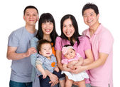 Two happy family — Stock Photo