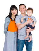 Asian family with baby son — Stock Photo