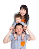Asia happy family — Stockfoto
