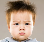 Angry baby — Stock Photo