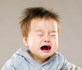 Crying baby boy — Foto Stock