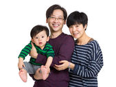 Family with father, mother and baby son — Stock Photo