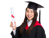 Excited graduate student — Stockfoto