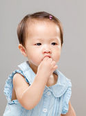 Comer bocadillo chica — Foto de Stock