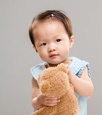 Little girl with teddy bear  — Stock Photo