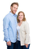 Jeune couple en vêtements de sport — Photo