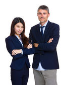 Two business people with different ethnicities — ストック写真