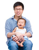 Happy father and baby son — Stock Photo
